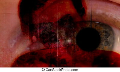 Horror Abstract Backdrop Sixteen non looping