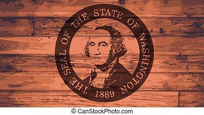 Washington State Flag and Seal Brand - Washington State Flag...