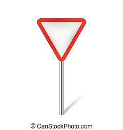 give way traffic sign