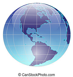 Planet Earth - Illustration of Earth on a white background