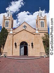 Church of San Felipe in Albuquerque, New Mexico. -...