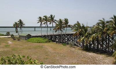 Seven Mile Bridge Island - Pigeon Island Florida Keys off...