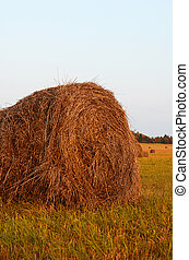 Haystack against the sky Haymaking time - The haystack...