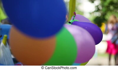 Air Colored Balls Swaying in The Wind
