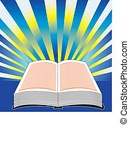 Holy Bible Vector, Illustration of bible with power.