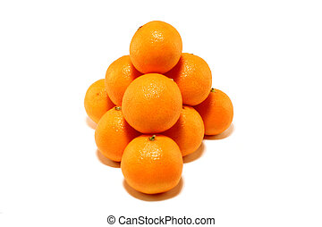 Small group of tangerines