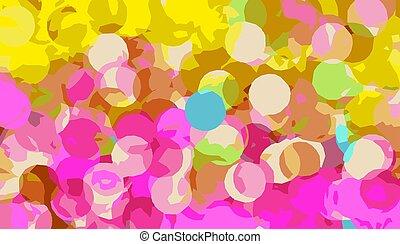 pink and yellow circle abstract