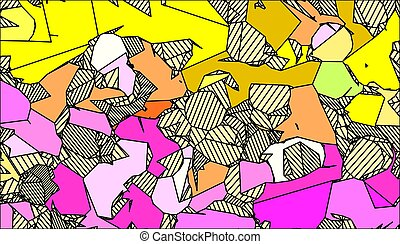 yellow and pink drawing abstract