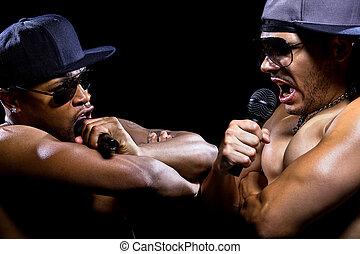 Hip Hop Rap Battle - Hip hop subculture battle between two...