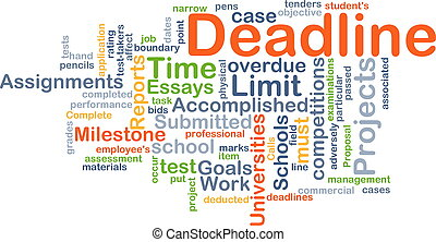 Deadline background concept - Background concept wordcloud...