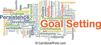 Goal setting background concept - Background concept...