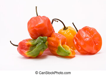 Mixed Caribbean Chillies - Mixed Caribbean scotch bonnet...