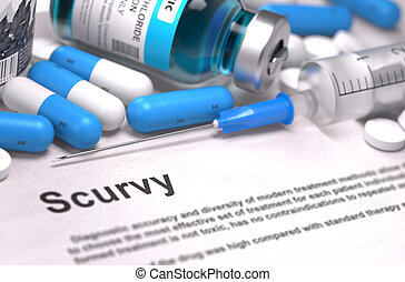 diagnóstico, -, Scurvy., médico, Concept.,