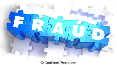 Fraud - White Word on Blue Puzzles. - Fraud - White Word on...