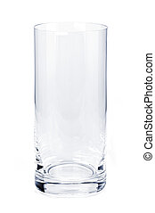Empty tumbler glass - Single empty tumbler glass isolated on...