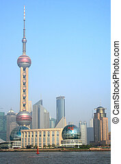 Shanghai - View of Shanghai with the Oriental Pearl Tower