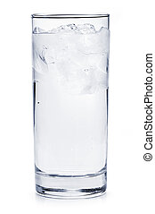Full glass of ice water - Full glass of water with ice...