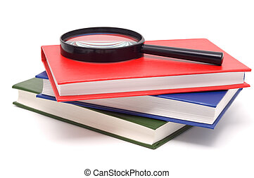 Books with bright colour covers.