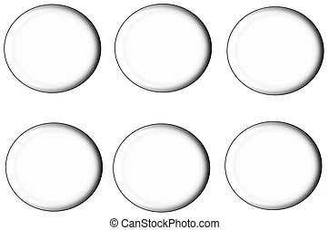 set of round buttons, - A set of round buttons, rounded and...