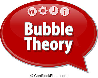Bubble Theory Business term speech bubble illustration -...