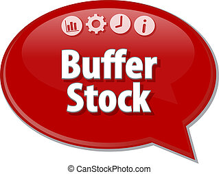 Buffer Stock Business term speech bubble illustration -...