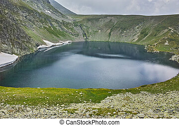 The Eye lake, Rila Mountain - The Eye lake before storm, The...