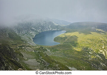 the Kidney lake, Rila Mountain - Fog Over the Kidney lake,...