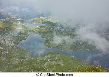 The Seven Rila Lakes, Bulgaria - approaching fog over The...