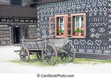 Scenery in the village Cicmany, Slovakia