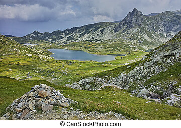 The Seven Rila Lakes, Bulgaria - amazing panorama of The...