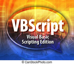VBScript acronym definition speech bubble illustration -...