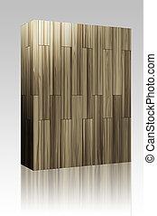 Wooden parquet tiles box package