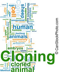 Cloning word cloud - Word cloud concept illustration of...