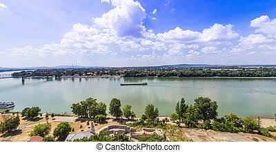 Budapest Hungary, Danube river panorama