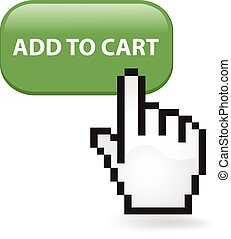 Add To Cart Button - Add to cart button with a cursor hand