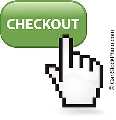 Checkout Button - Checkout button with a cursor hand