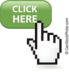 Click Here Button - Click here button with a cursor hand
