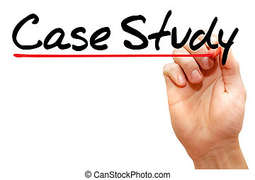Case Study - Hand writing Case Study with marker, business...