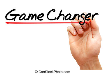 Game Changer - Hand writing Game Changer with marker,...