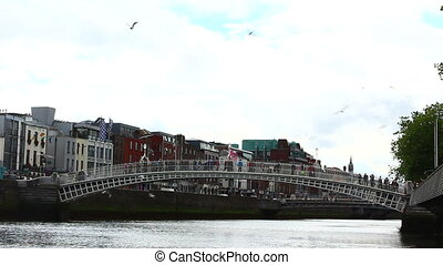 HaPenny Bridge - A Video Of The HaPenny Bridge In The Center...