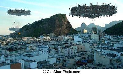 UFO fleet invading Rio De Janeiro - A fleet of unidentified...