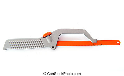hacksaw - hand hacksaw in front of white background