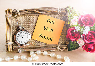Get Well Soon greeting card. - Hand-made Get Well Soon...