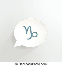 Capricorn Sign - Capricorn zodiac sign speech bubble