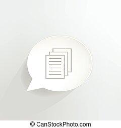 Documents speech bubble