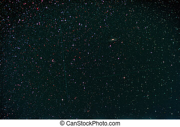 Starfield with Perseus, Andromeda Galaxy, Milky Way and...