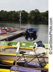 bateaux, sur, a, Lac, dans, Allemagne,