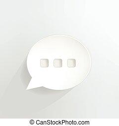 Chat Bubble - Ellipsis speech bubble.