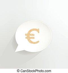 Euro Sign - Euro sign speech bubble.
