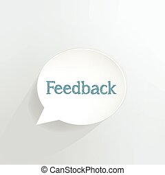 Feedback speech bubble.